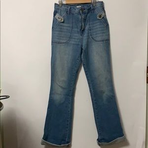 BDG MOM'S BLUE EXTRA LONG JEANS Size 28